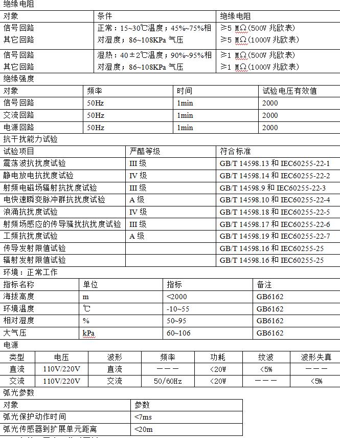 廠家直供數據中心開關柜中低壓母線保護安科瑞ARB5系列弧光保護裝置過電壓防護示例圖5