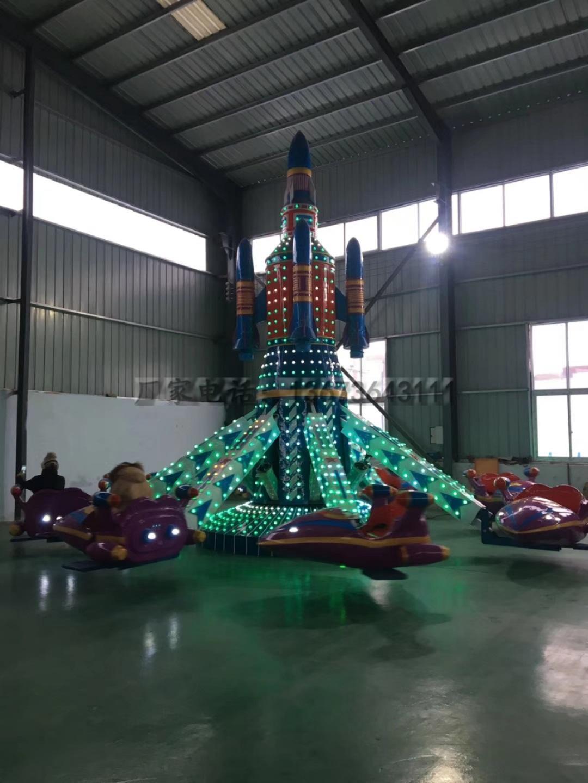 儿童娱乐新项目6臂旋转自控飞机 大洋游乐专业生产儿童自控飞机游艺设施厂家示例图5