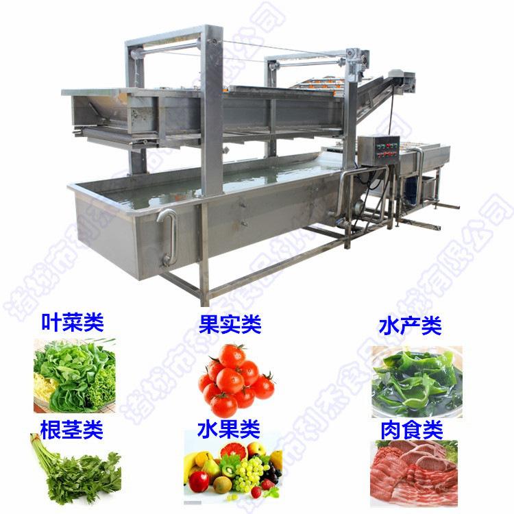 利杰牌LJQX-400气泡清洗机果蔬清洗机   蔬菜清洗机  清洗机采用气泡水浴清洗,适用 菌类菜类水产品、中药材的清洗示例图5