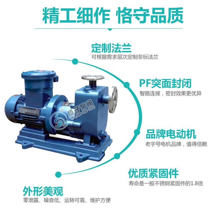 ZCQ25-20-115不锈钢自吸式泵力泵 卧式磁力驱动泵 无泄露磁力泵示例图9