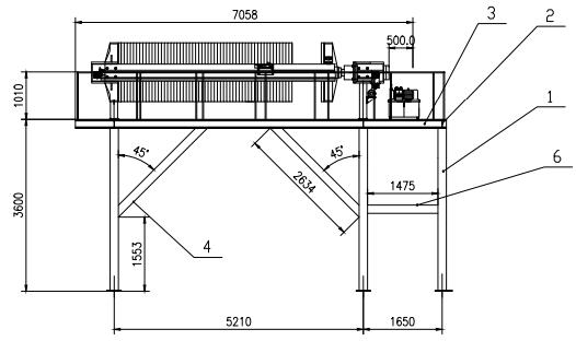 钻孔灌注桩泥浆处理设备板框压滤机示例图1