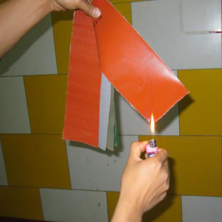 宝来 无味硅胶防火布 阻燃硅胶布 耐高温软接布 隔热环保硅橡胶防火布示例图12