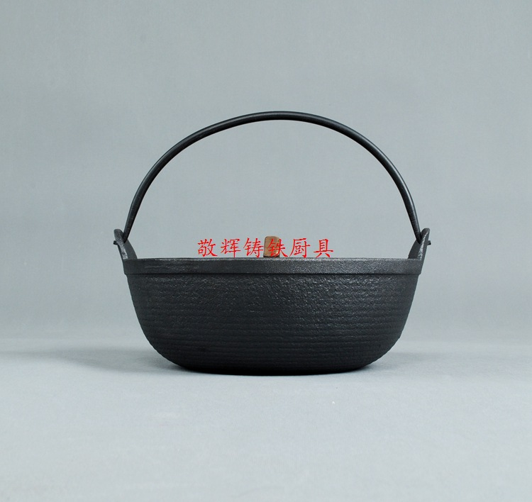 日式寿喜锅铸铁汤煲手工铸造炖锅汤锅炖煲老式日本锅鑄鐵鍋定做示例图9