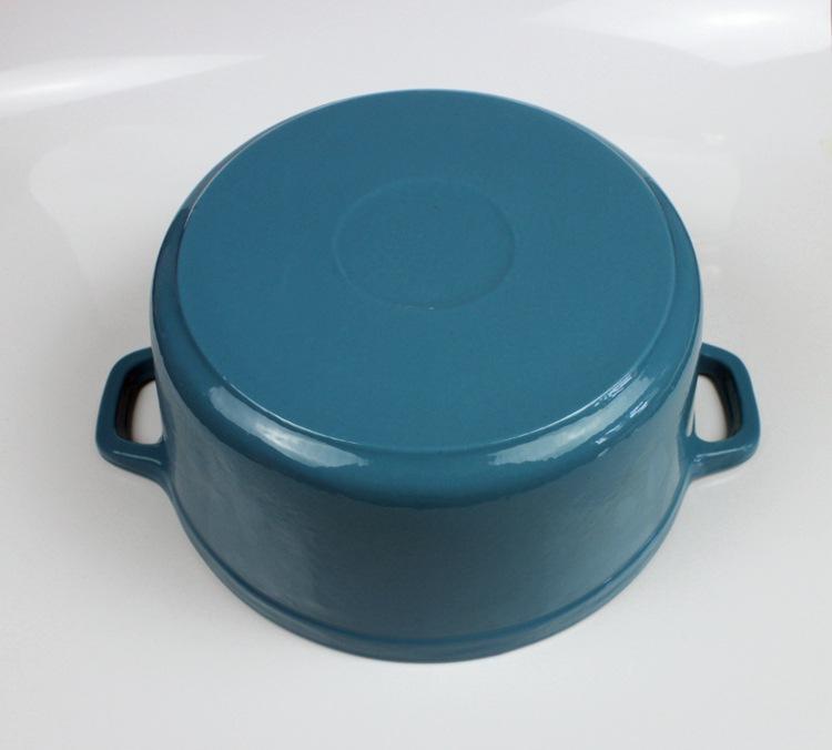 出口加大28铸铁搪瓷锅炖锅珐琅煲汤锅生铁煮粥炖肉商用铸铁锅定制示例图9