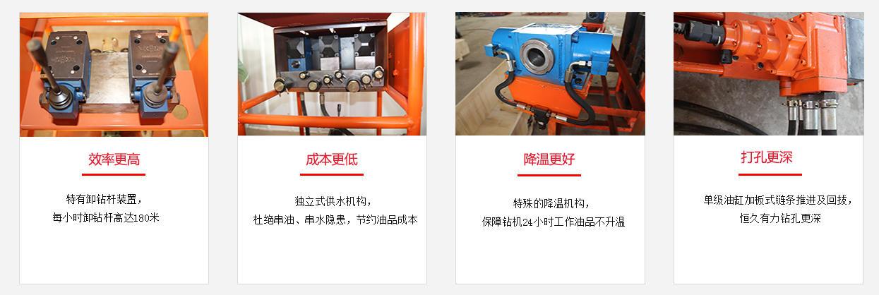 架柱式液压回转钻机价格 煤矿探水专用液压回转钻机示例图2