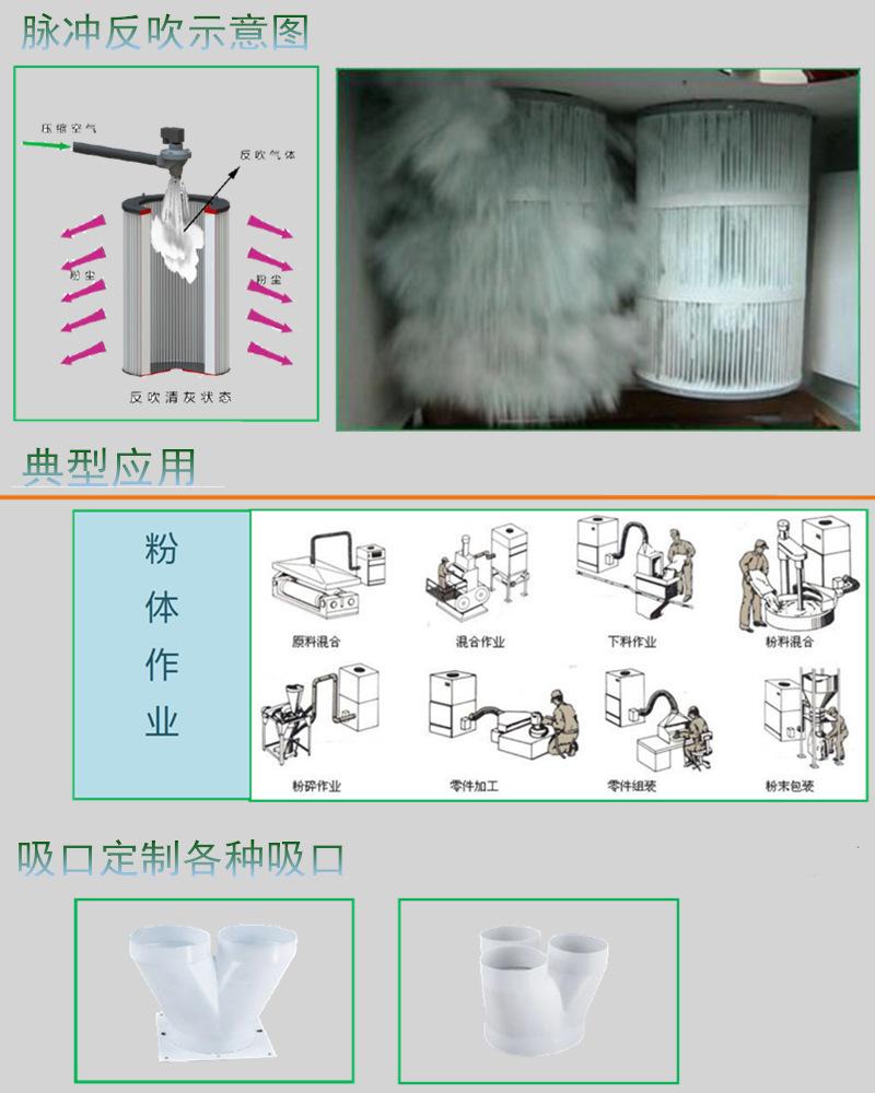 磨床打磨粉尘集尘器 5.5KW打磨移动柜式工业吸尘器 工业磨床打磨抛光专用集尘器示例图14
