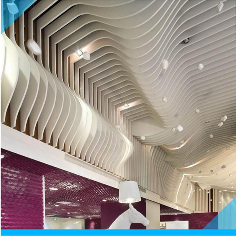 弧形铝方通 弧形铝吊顶厂家 波浪铝方通 弧形铝方通吊顶天花 工厂直销价格优惠质量保证货期快示例图16
