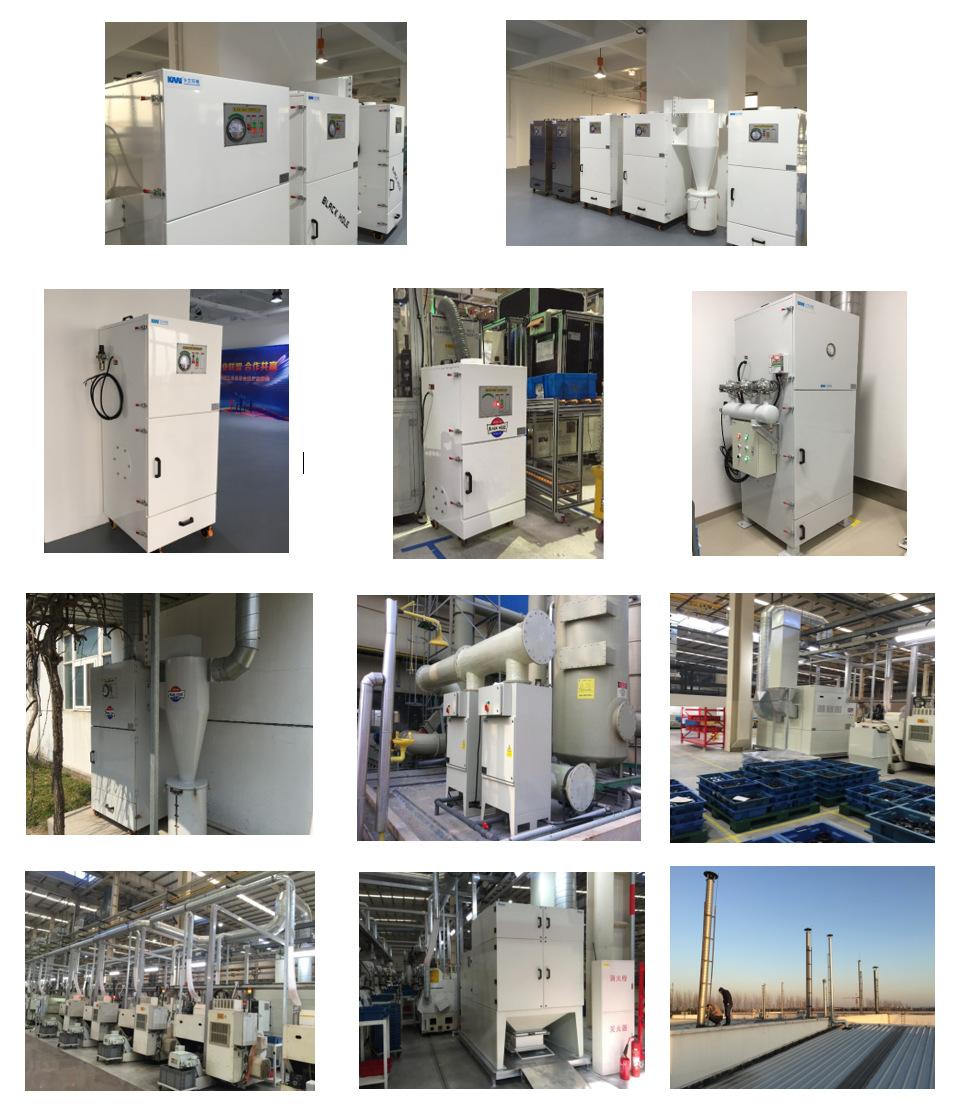 卡艾环境工业集尘设备 脉冲布袋除尘器 车间除尘设备  集尘设备示例图7