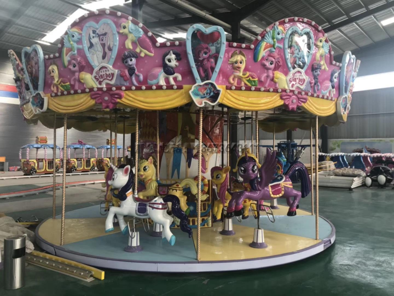 儿童游乐场游乐设备西瓜飞椅_16座旋转水果飞椅_郑州大洋水果旋风示例图16