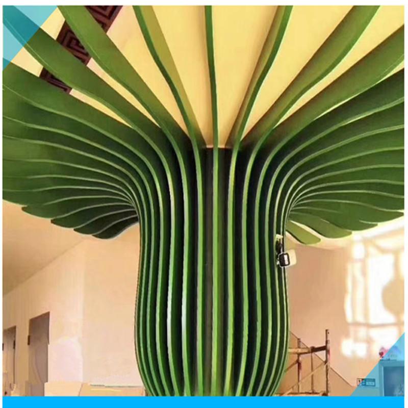 弧形铝方通 弧形铝吊顶厂家 波浪铝方通 弧形铝方通吊顶天花 工厂直销价格优惠质量保证货期快示例图11