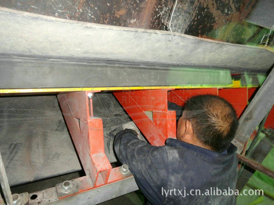 缓冲床在带式输送机上的应用 防物料洒落缓冲床示例图11