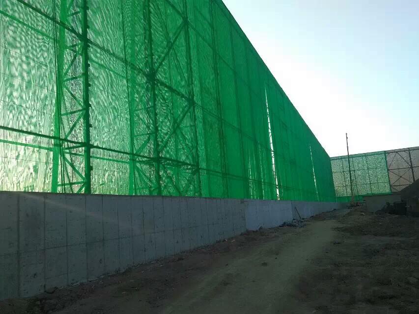 塑料防风抑尘网,塑料防风抑尘墙,塑料编织防风抑尘网,港口塑料挡风抑尘墙定做示例图14