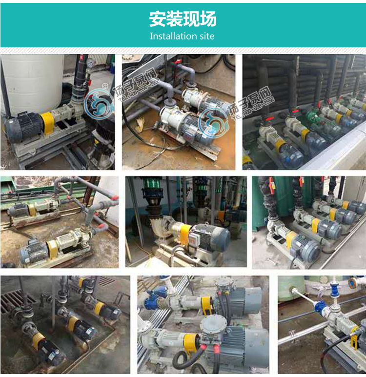 不锈钢磁力泵 316L不锈钢耐腐蚀碱液泵 耐高温化工磁力泵 烧碱泵示例图14