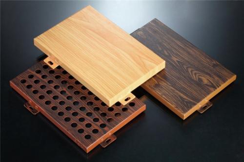 直供各种纹路颜色4d3d木纹铝单板 腐蚀木纹铝单板 手感木纹铝单板示例图7