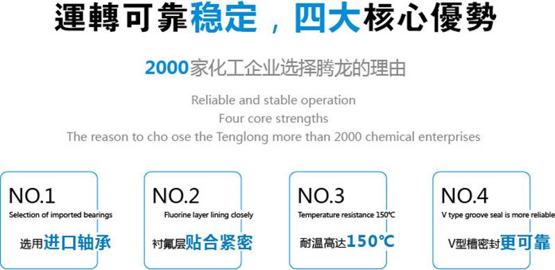IHF80-65-125D离心泵 卧式单级 叶轮闭式 氟塑料化工泵 腾龙批发示例图3