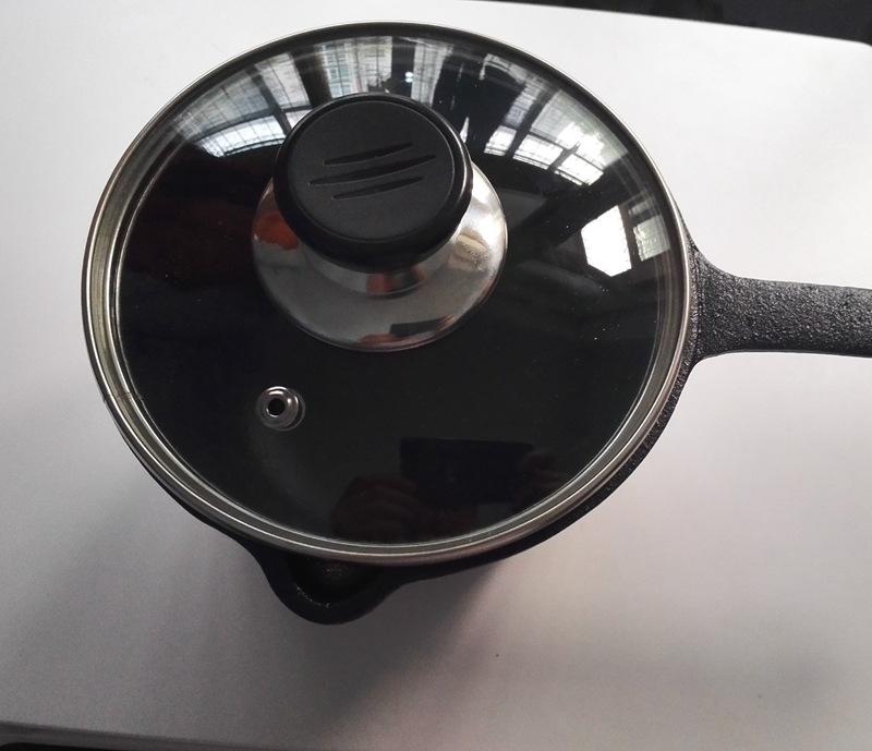 定做出口铸铁无涂层迷你奶锅辅食锅汤锅不粘汤锅锅具电磁炉鑄鐵鍋示例图8
