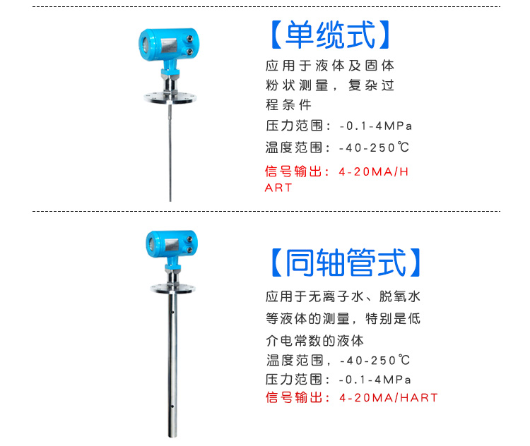 雷达液位计厂家价格型号 智能雷达液位计 DN25 DN50 4-20mA hart协议 RS485 吉创示例图12