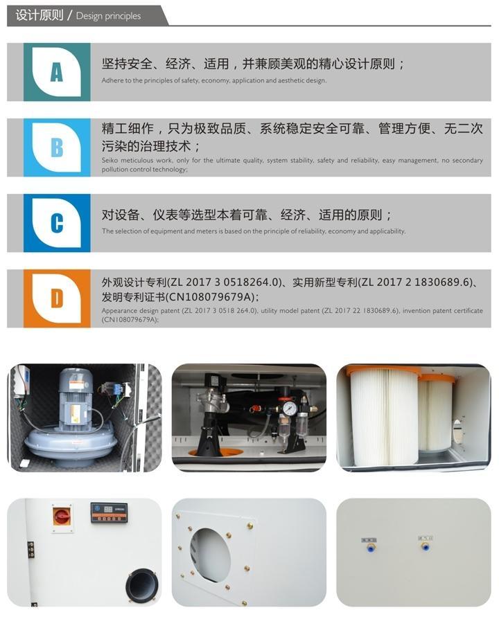 工业粉尘吸尘器 15KW磨床吸尘设备粉尘颗粒集尘器 环保吸尘器示例图12