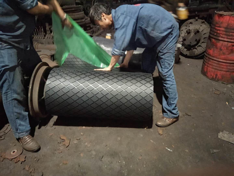 滚筒包胶专用冷硫化胶板厂家 冷粘菱形胶板厚度参数示例图18