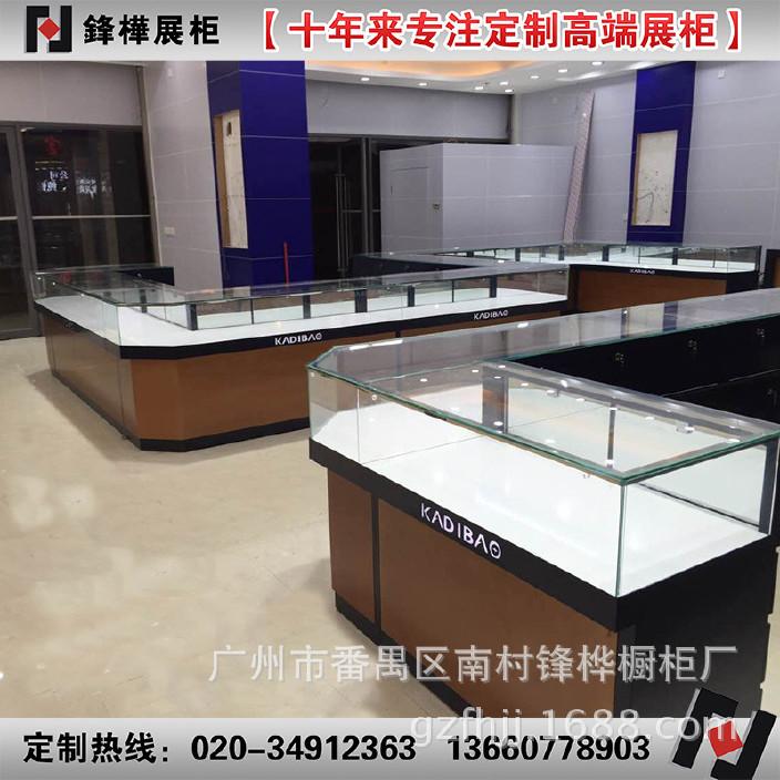 欢迎来图来样定制超白玻璃金属加烤漆珠宝柜台精品珠宝转角展柜