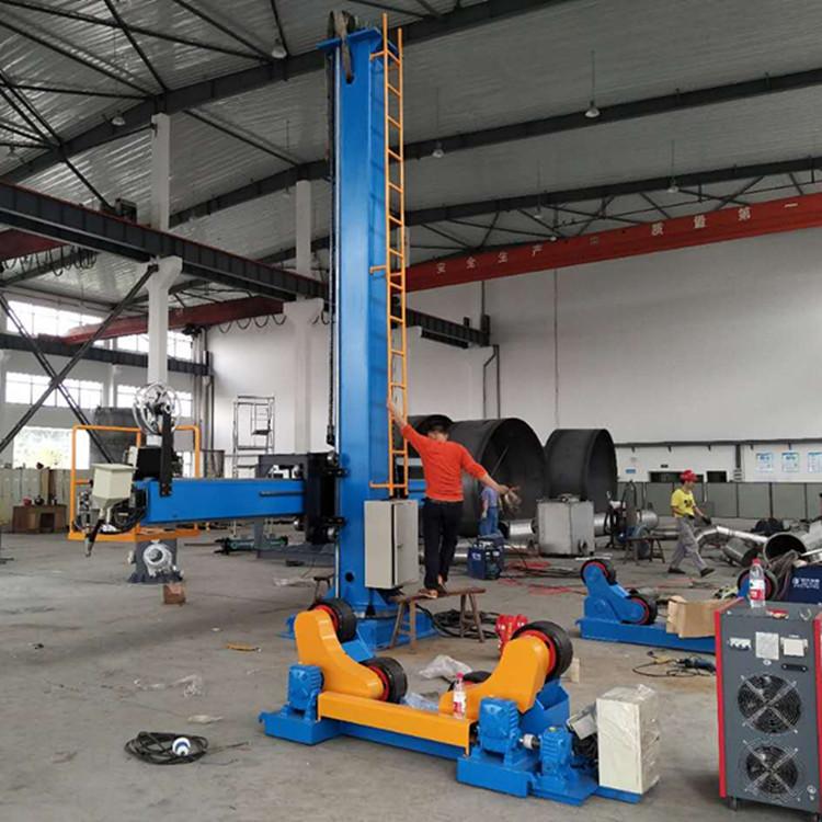 20吨自调焊接滚轮架  江苏厂家非标定制皇泰操作机 可调滚轮架示例图3