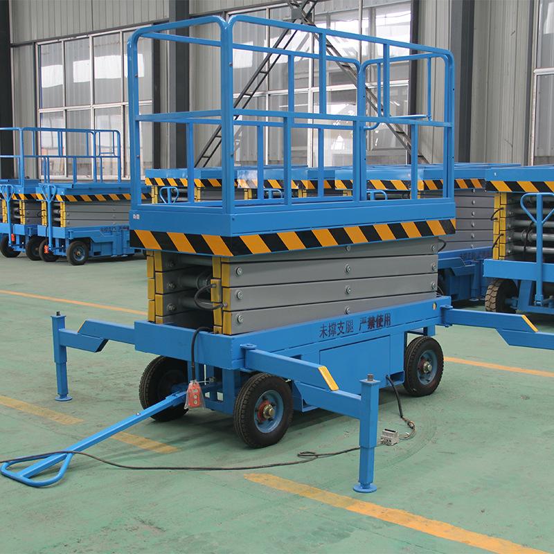 厂家生产剪叉升降平台 移动液压升降台家用小型电梯移动式升降机示例图7