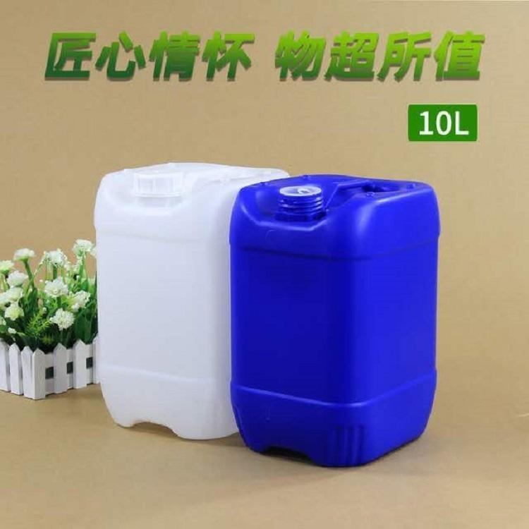 加厚10公斤塑料方形桶 10升堆码桶涂料桶化工塑料桶