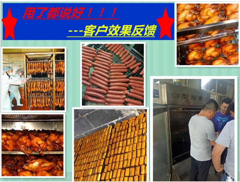 厂家供应不锈钢烟熏炉 哈尔滨红肠熏蒸炉 熏板鸭烟熏炉示例图19