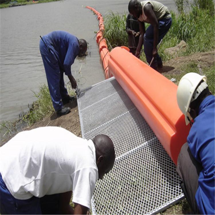 水环境治理拦污浮筒 游乐园水上安全区域隔离警示浮筒 养殖水域漂浮垃圾拦截浮排