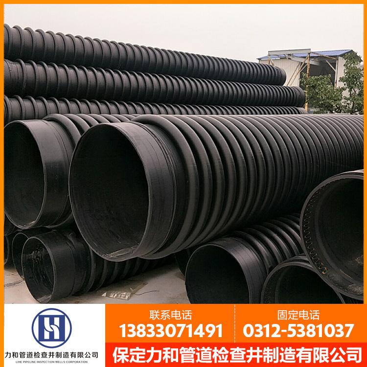 dn400mm,8kn 缠绕增强排水排污B型管 HDPE克拉管 河北厂家示例图10