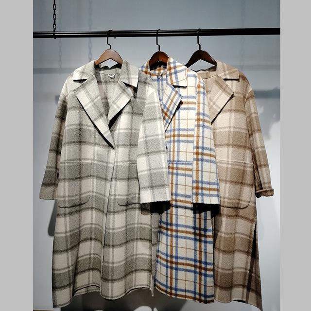批发供应N28双面尼大衣1802011202女装折扣店直 播货源厂家直供