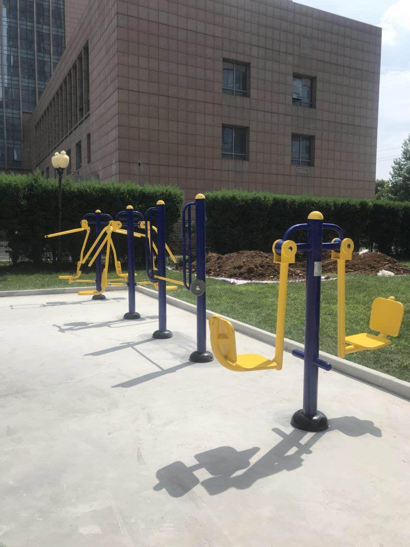 专业供应公园广场小区室外健身路径 高质量双人坐蹬 户外健身器材示例图15