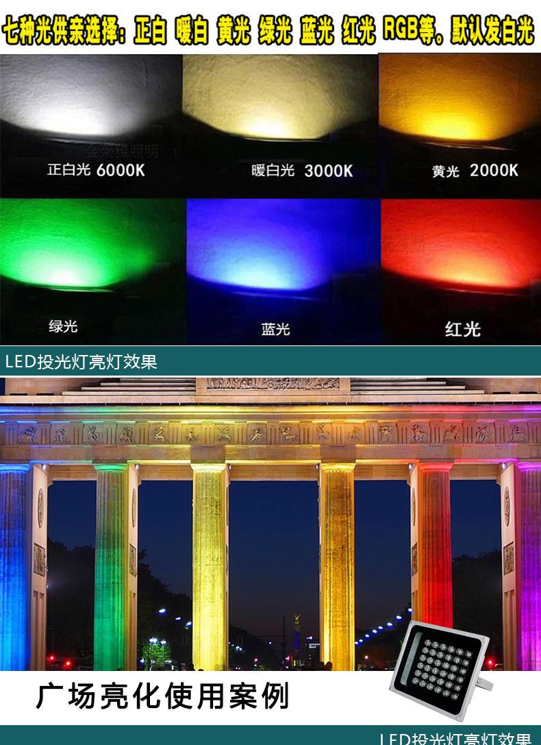 厂家批发户外照明防水 LED 50W大功率集成投光灯 LED集成投射灯示例图5