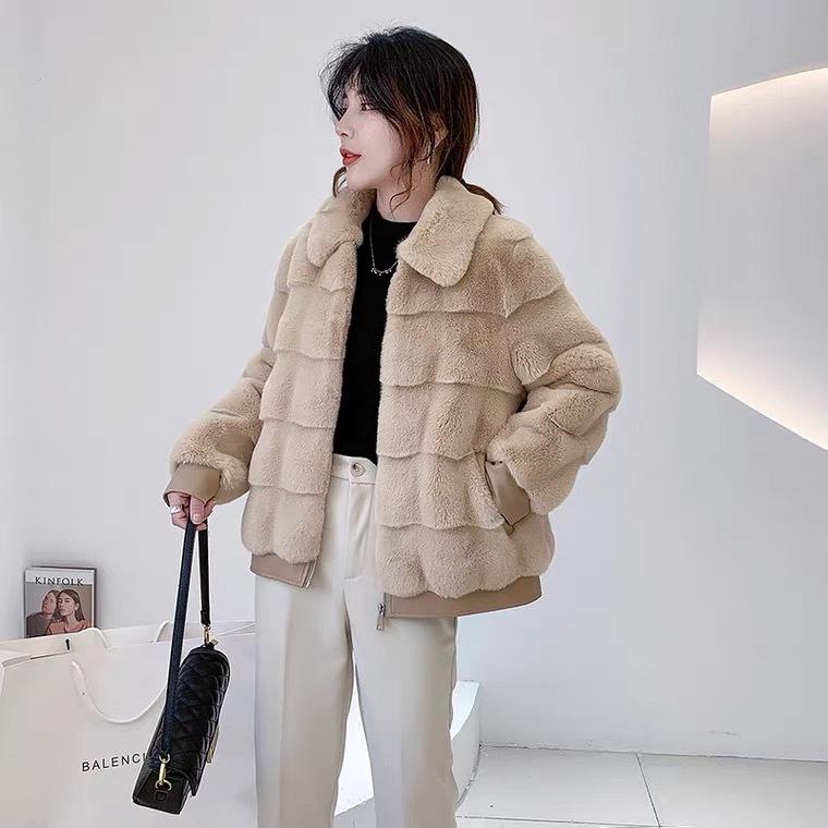 轻奢外套丹麦貂绒大衣女外套2021新款冬季中长款妈妈装一体时尚气质厚 商场货源供应示例图3
