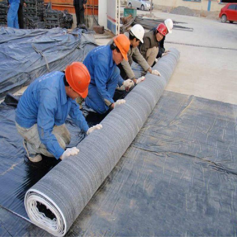膨潤土防水毯4000g/4500g/5000g房頂蓄水池、水庫覆膜防水毯 納基膨潤土防水毯