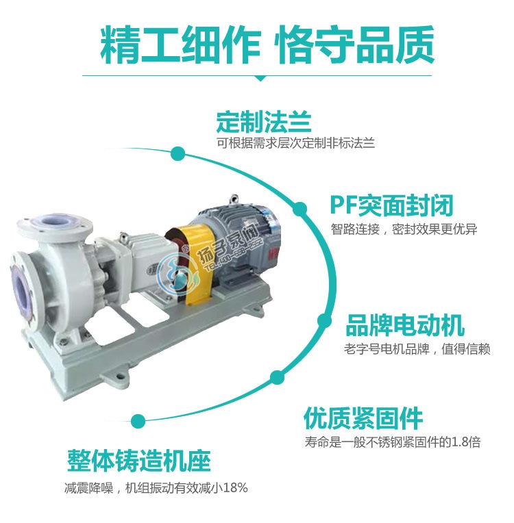 IHF氟塑料合金离心泵泵单级单吸式耐高温钢衬氟塑料化工泵示例图11