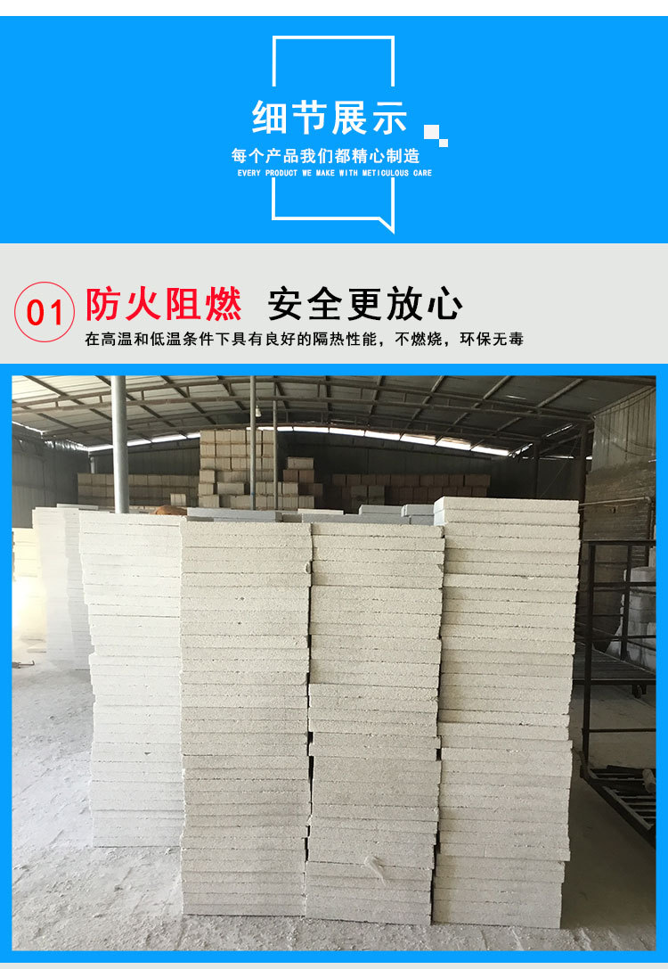 厂家直销无机发泡保温板可定制珍珠岩门芯板 防火门芯板价格从优示例图4