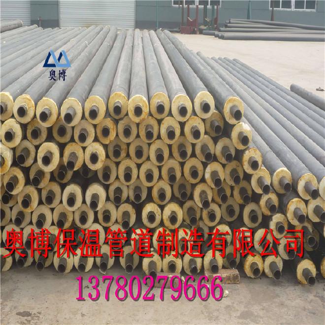 现货供应高密度聚乙烯黑黄夹克管生产加工聚氨酯直埋式保温钢管厂家直销内保温外保温钢管110*2.2示例图3