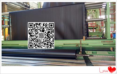 山东天然纳基覆膜膨润土防水毯5500克幅宽6米长度30米一件180平米厂家直销示例图5