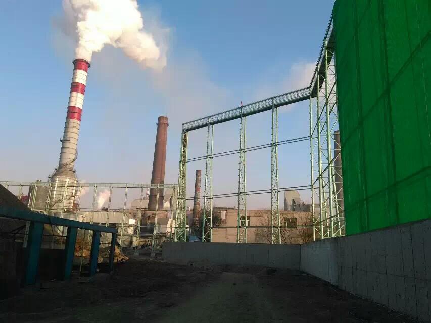 电厂柔性防风抑尘网,热电厂储煤料堆四周围墙用的防风抑尘网示例图1