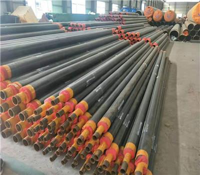 沧州热水供暖用硬质聚氨酯泡沫塑料保温钢管 聚異氰尿酸脂保温管示例图11