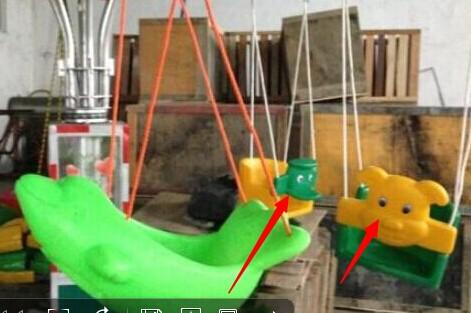 儿童游乐秋千飞鱼_供应新型秋千飞鱼_旋转小飞鱼项目大洋游乐设备供应商椰子树飞椅示例图3