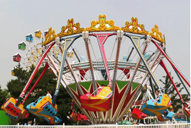 值得入手的16座超级秋千儿童游乐设备 大洋游乐疯狂旋转超级秋千游乐项目示例图5