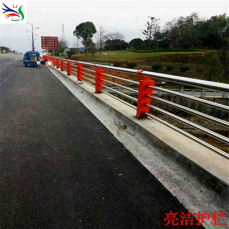 不锈钢复合管护栏厂家 河道防护镀锌护栏 201/304不锈钢护栏 长期供应