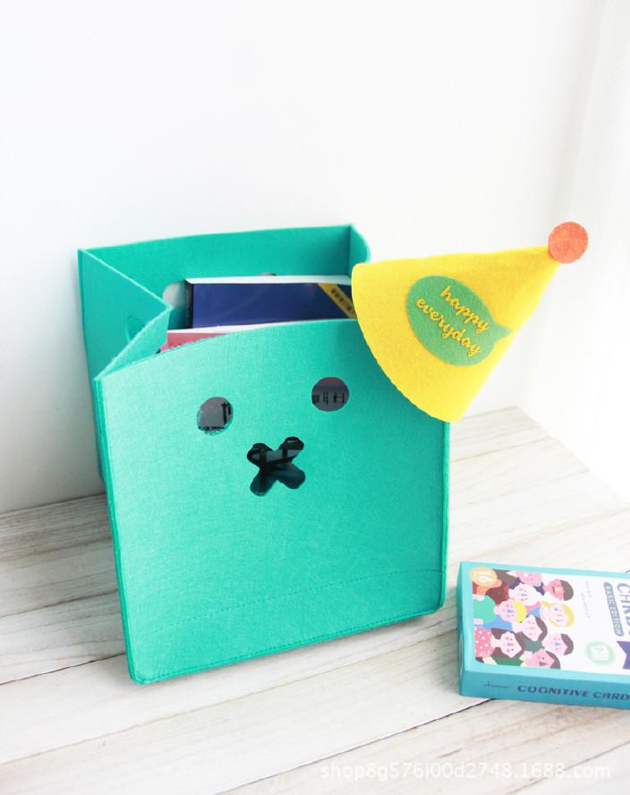 创意卡通不织布收纳桶毛毡玩具杂物收纳筐圣诞节礼物桶 可定制示例图7