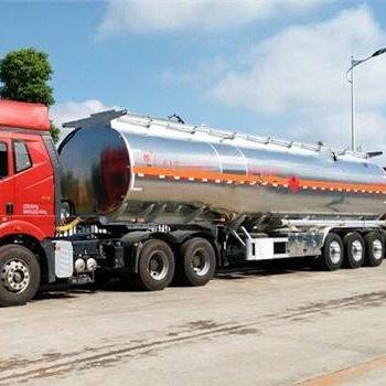 41.8方鋁合金半掛油罐車,鋁合金半掛運油車,鋁合金后掛油車
