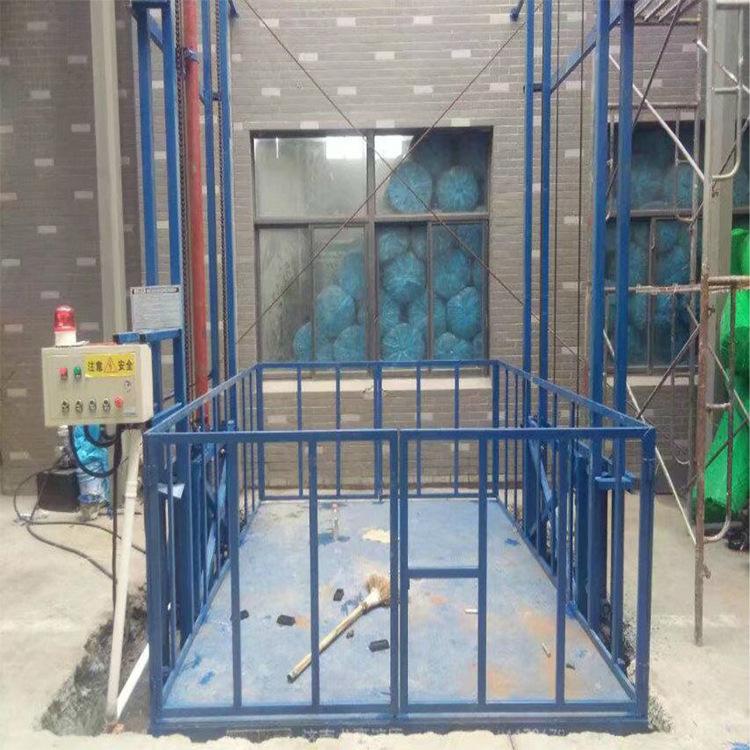 壁掛導軌式升降機鏈條式貨物提升平臺倉庫上貨設備廠房液壓舉升機示例圖8