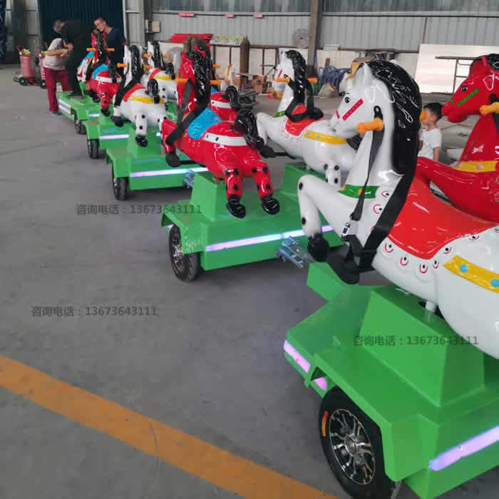 跑马火车,骑士小队,骑马无轨小火车,起伏马火车骑仕火车新款儿童游乐设备到郑州大洋游乐设备厂家直销骑士小队小火车生产厂家示例图19