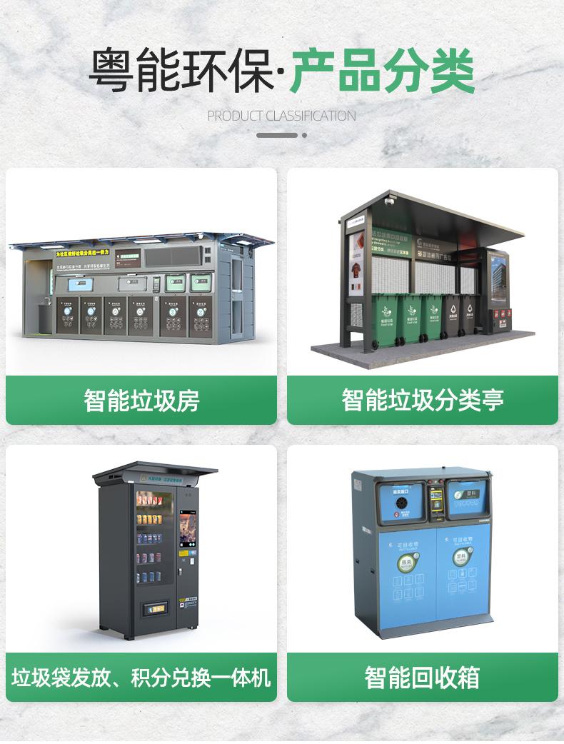 四分類智能垃圾分類亭   生活垃圾分類處理   智能垃圾分類設備示例圖5
