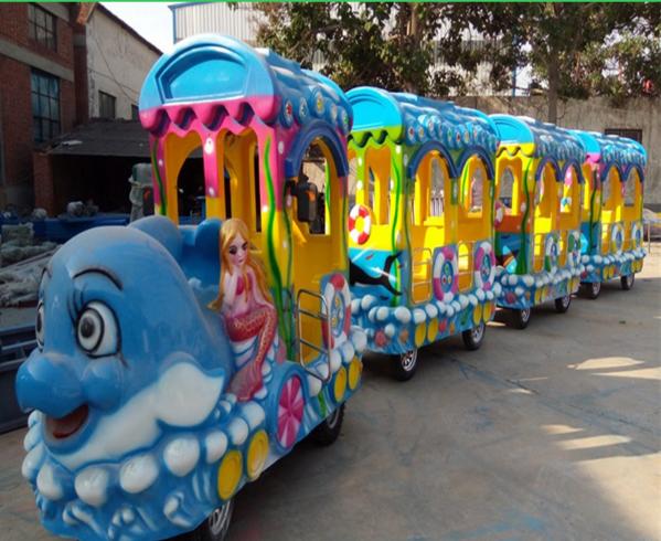 2020 郑州大洋源头厂家供应无轨海洋观光火车 公园卡通造型海洋小火车示例图2